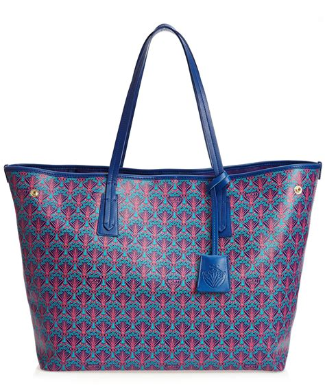 Tote Bags lyst liberty marlborough tote bag in iphis canvas in blue