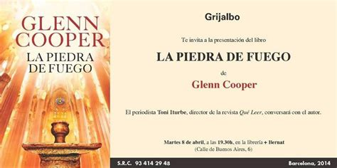 la piedra de fuego 8425352088 glenn cooper p 225 gina web oficial