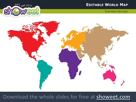Editable World Map For Powerpoint Editable World Map Powerpoint