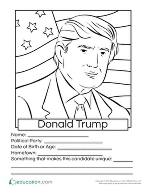 donald trump kindergarten donald trump coloring page 2016 presidential candidates