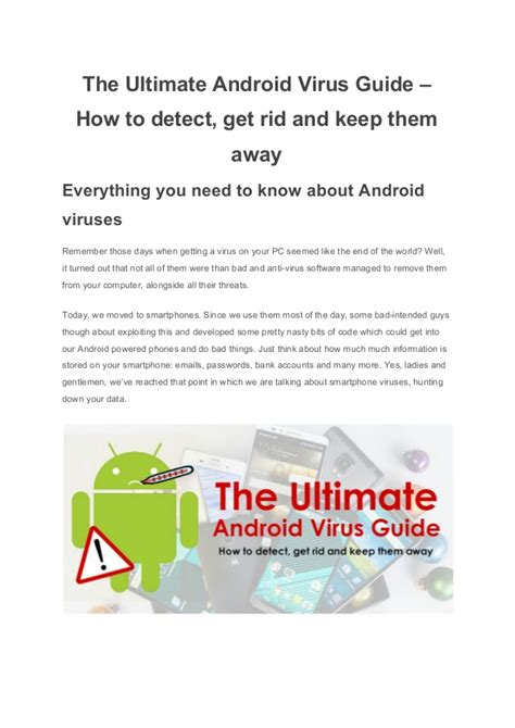 how to get rid of virus on android phone the ultimate android virus guide how to detect get rid and keep th