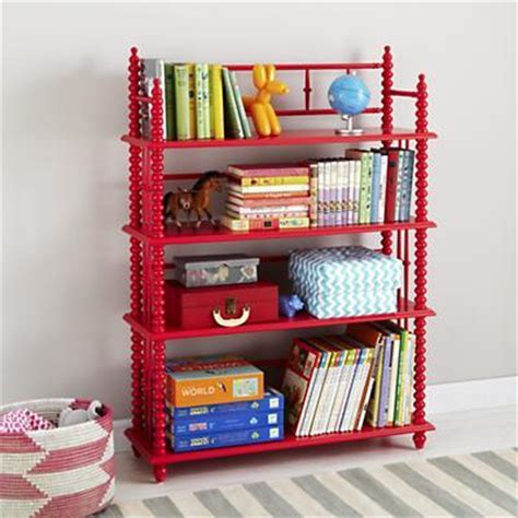 raspberry spindle bookcase land of nod