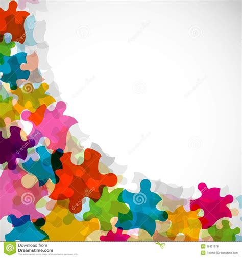 abstract puzzle background eps10 stock vector image