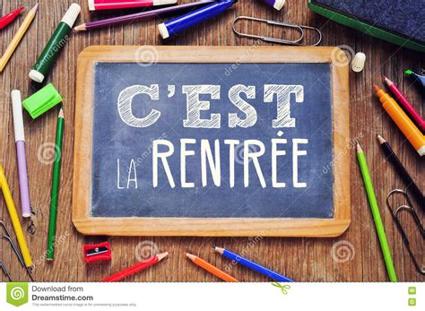 Back In La by Text Cest La Rentree Back To School In Stock Photo