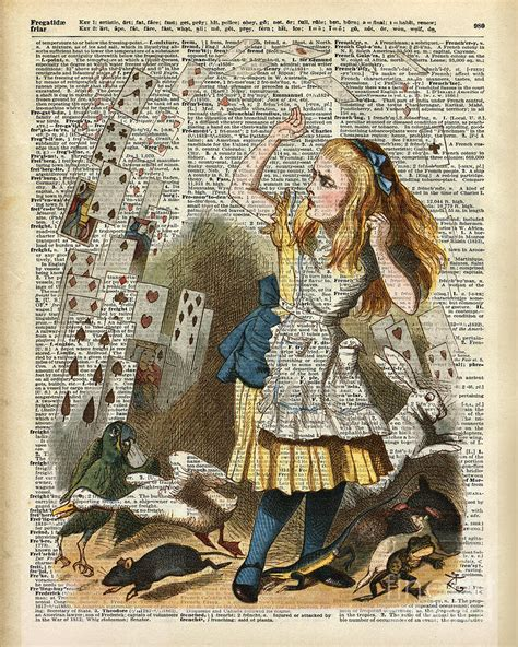 Duvet Dictionary Alice In The Wonderland On A Vintage Dictionary Book Page