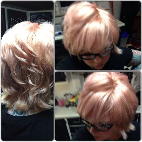 which hair color from sallys rose gold tried out the new sally beauty blond brilliance toner in