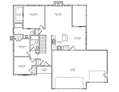 Small Ranch Floor Plans Tiny House Plans Small House Plan Small 3 Bedroom Ranch House Plan The House Plan