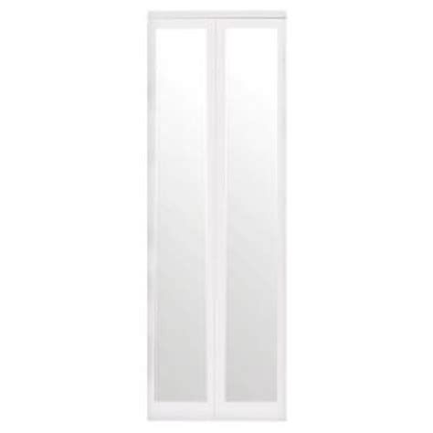 Home Depot Mirrored Closet Doors Impact Plus 30 In X 80 In Mir Mel Mirror Solid Primed Mdf Interior Closet Bi Fold Door