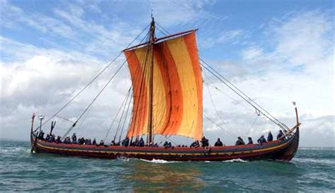 information about boats and ships let s go a viking sailing on the sea stallion of