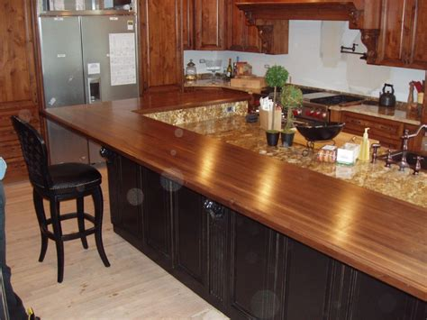 wooden kitchen countertops for a trendy look