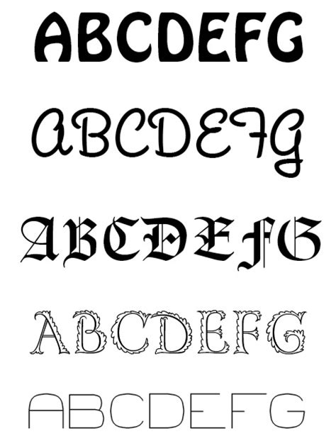 Letter Types overview of typography getting to text for design