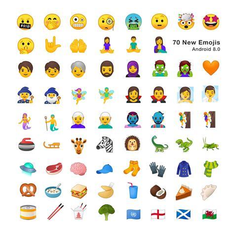 android new emojis android oreo hier seht ihr alle 2 669 neuen emojis des betriebssystems in der 220 bersicht gwb