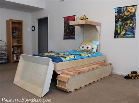 bulldozer bed dozer bed plans palmetto bunk beds