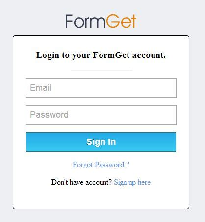 jquery div show and hide registration login form using jquery formget