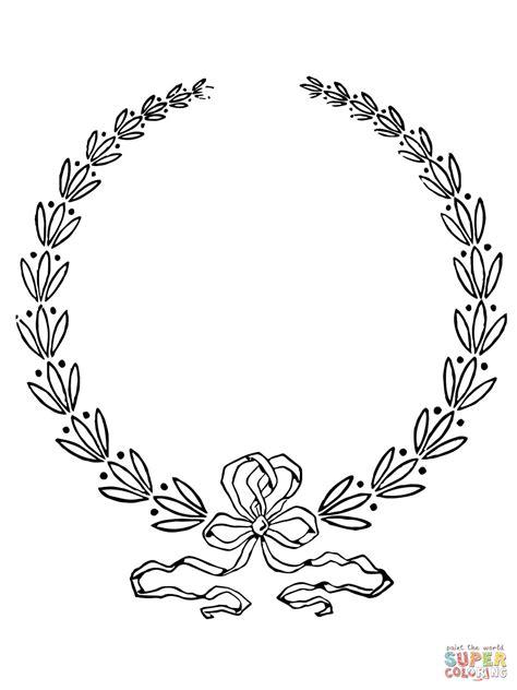 Dibujo de Corona de Laurel para colorear | Dibujos para