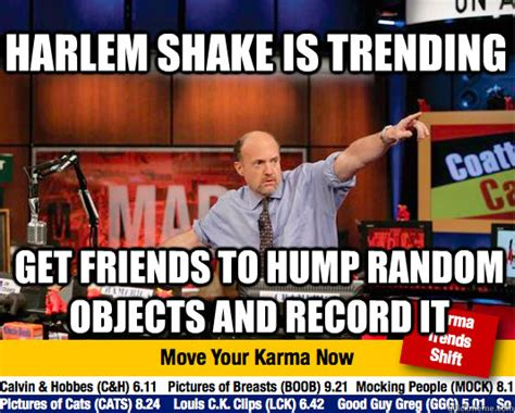 Harlem Meme - harlem shake is trending get friends to hump random