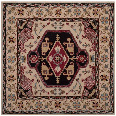 bellagio rugs safavieh bellagio beige black 5 ft x 5 ft square area rug blg549a 5sq the home depot