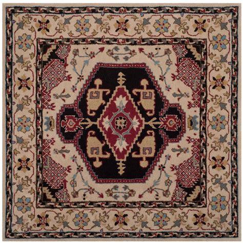 5 ft rug safavieh bellagio beige black 5 ft x 5 ft square area