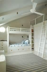 built in bunk beds cottage boy s room benjamin