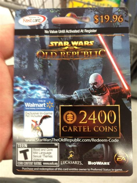 Does Walmart Buy Gift Cards From Other Stores - swtor walmart now sells cartel coin cards bundled with glided flutterplume dulfy