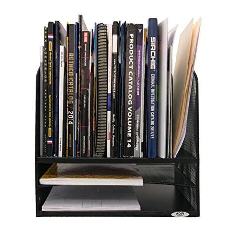 upright paper holder for desk adiroffice mesh desk organizer desktop paper file folder