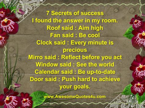 7 Secrets Of Successful by Awesome Quotes 7 Secrets Of Success