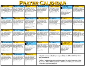 prayer calendar template prayer calendar for your children them up