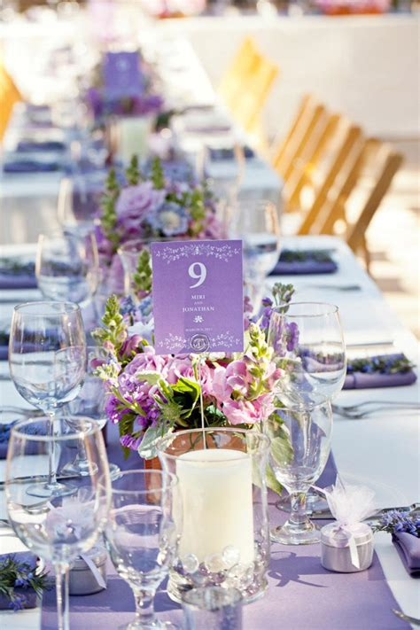centerpieces ideas stunning wedding centerpiece ideas with chic purple hue