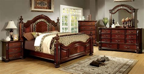 cherry bedroom furniture arthur brown cherry poster bedroom set cm7587q bed