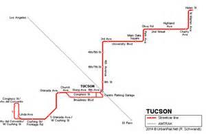 arizona light rail map urbanrail net gt usa gt arizona gt tucson streetcar