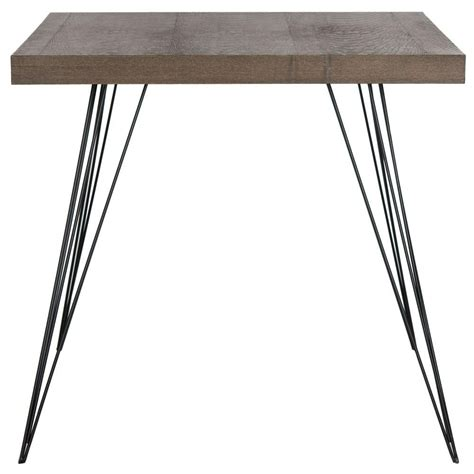 Black And Brown Dining Table Safavieh Wolcott Brown And Black Dining Table Fox4205b The Home Depot