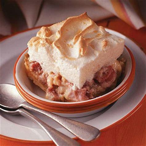 aunt emma s rhubarb custard dessert this nostalgic rhubarb dessert has a buttery cookie crust