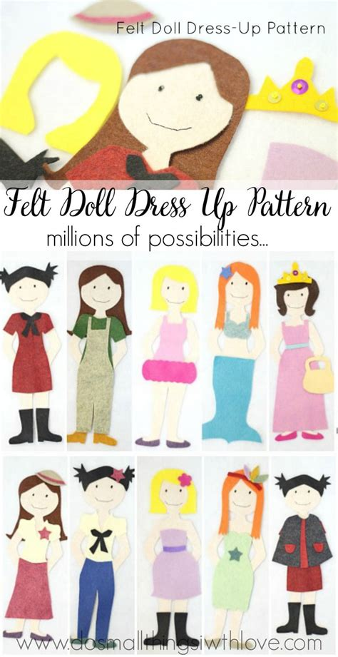 felt dress up doll template felt doll dress up pattern felting dolls and patterns