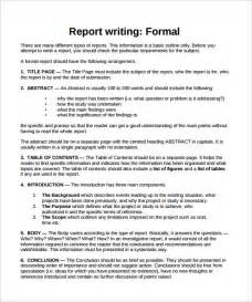 Report Formal Letter Sle Formal Report 24 Documents In Pdf