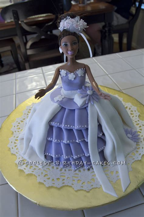 cool homemade princess barbie cake  wilton classic  mold coolest birthday cakes