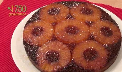 cuisiner l ananas recette g 226 teau 224 l ananas caram 233 lis 233 en vid 233 o