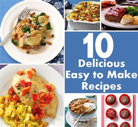 10 delicious easy to make recipes diy home things