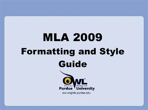 apa style coverpage the owl mla formatting power point