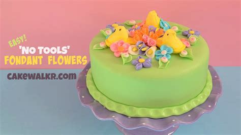 how to make fondant flower cake decorations without tools