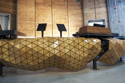 Design Firm Creates A Composite Wooden Material That Reception Desk Materials