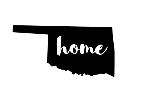 6 inch oklahoma home vinyl decal car window decal laptop
