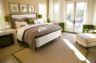 This master bedroom is romantic and elegant with soft plush bed