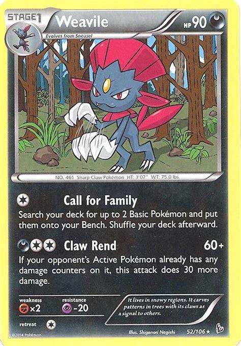 Figure Xy Flashfire card xy flashfire 52 106 weavile