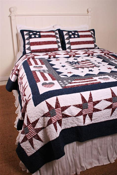 Great America Americana Flag Oversize Quilt Americana Americana Crib Bedding