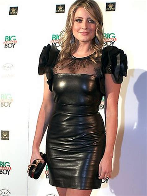 Nenti Dress in leather valance in leather dress