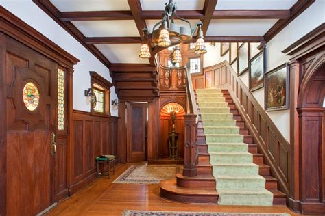 Modern Foursquare House Plans tour the american horror story house in l a hgtv