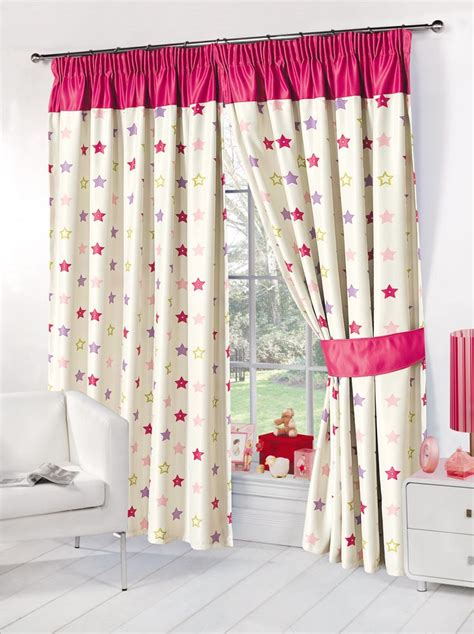 girls curtains ready made kids childrens stars thermal blackout curtains boys girls