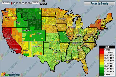 gas price map usa gas prices by county in the united states asphalt rubber