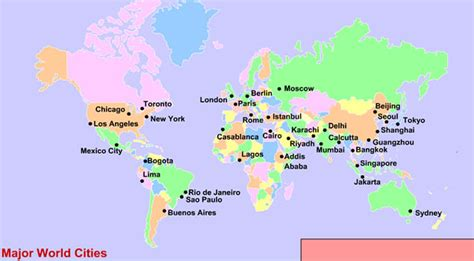 world cities map major world cities map factsofbelgium