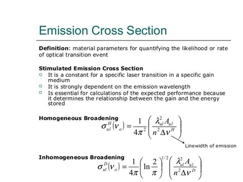 stimulated emission cross section stimulated emission cross section images